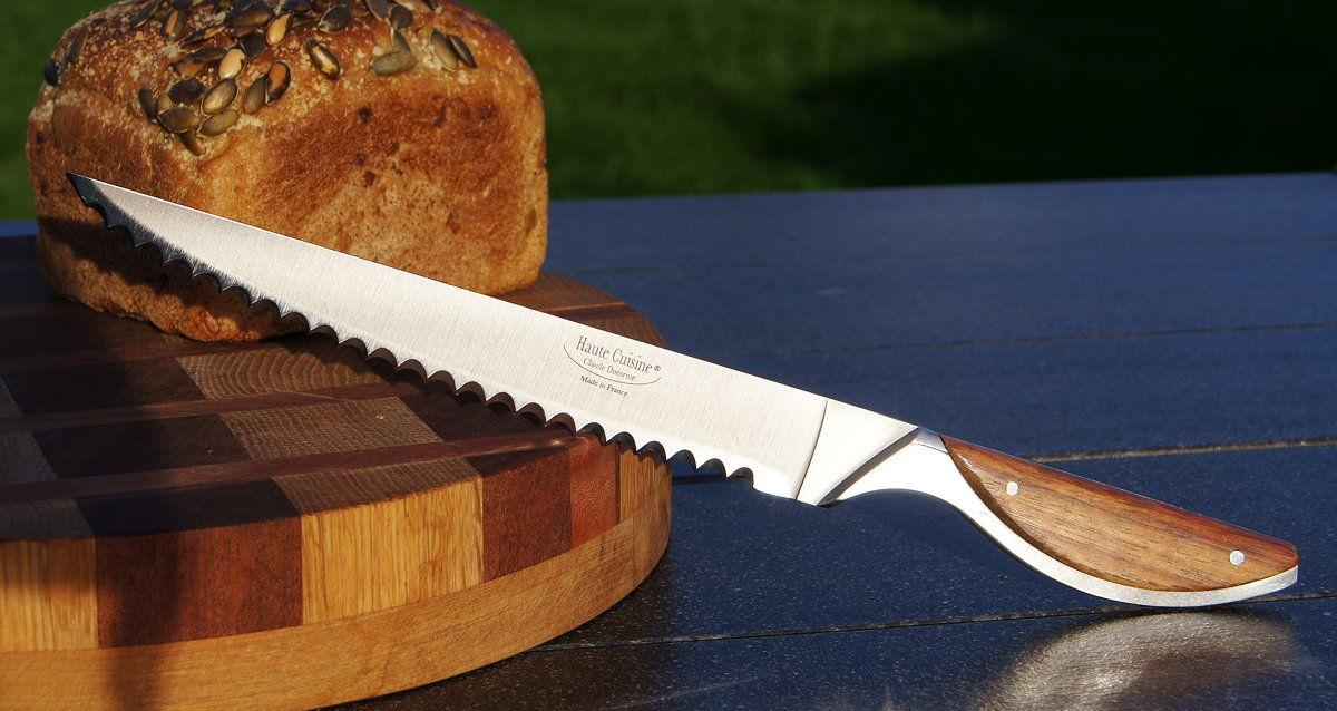 Original laguiole - Brotmesser Haute Cuisine bei Claude Dozorme, exotisches Holz