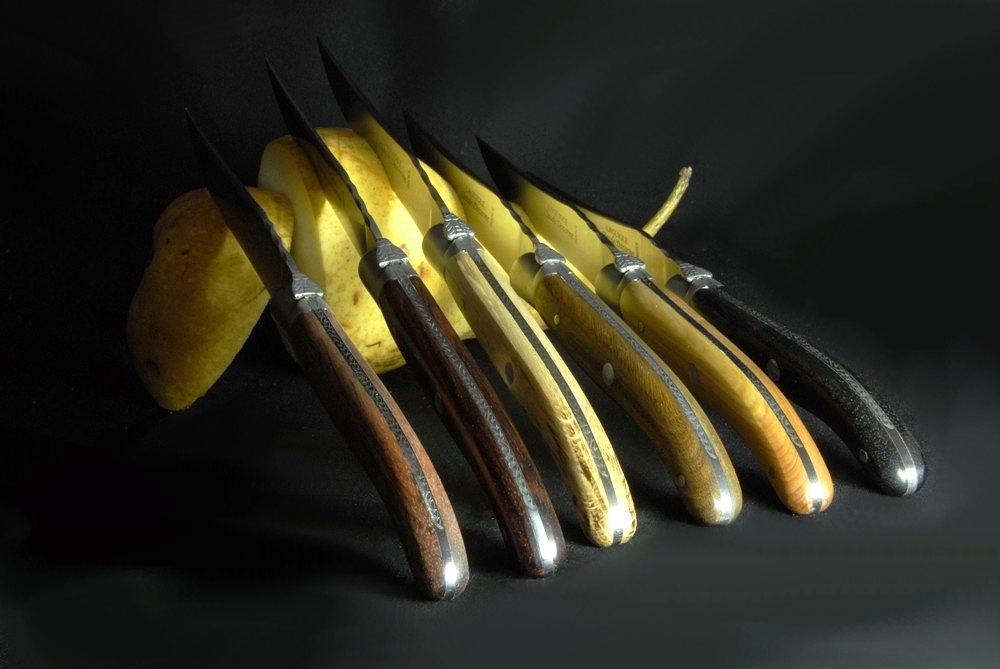 Original laguiole - Claude Dozorme Laguiole 6-teilig, Steakmesserset bois panaches