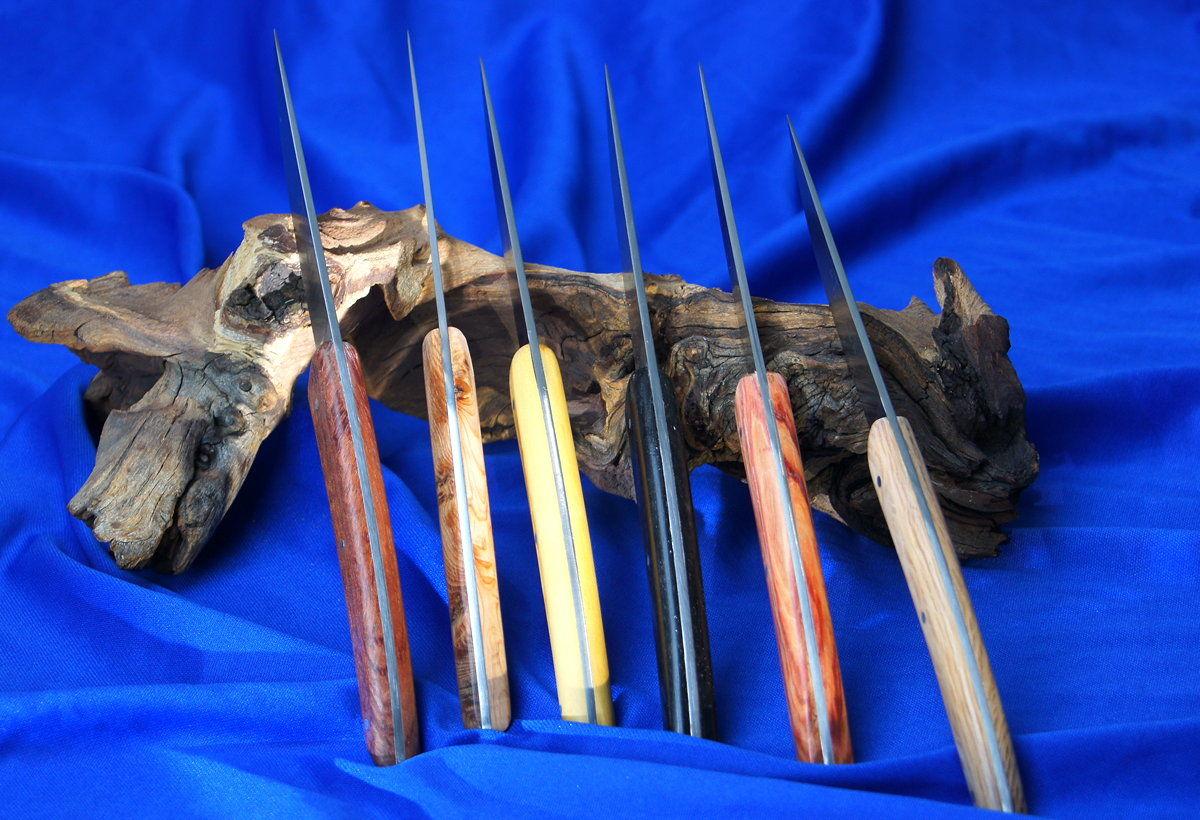 Original laguiole - Steakmesser Claude Dozorme Thiers 6-teiliger Set bois panaches divers
