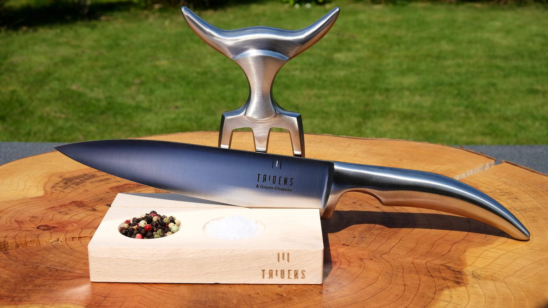 Original laguiole - Goyon-Chazeau barbecue set TRIDENS, Buchenholz, inkl. Messer