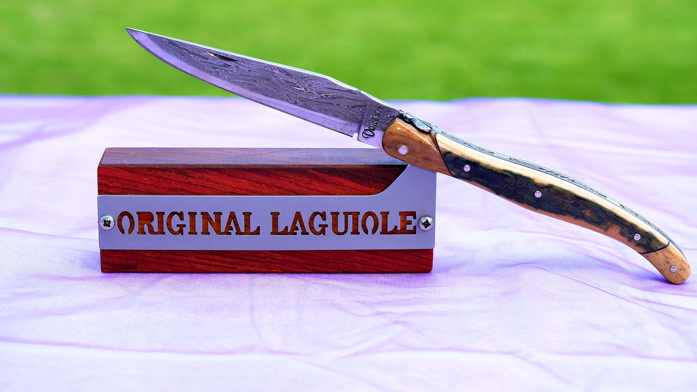 Original laguiole - Justine de Merges Collection: edler Messerständer für 1 Messer, Cocobolo