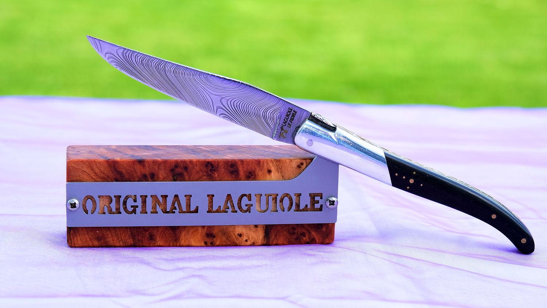 Original laguiole - Justine de Merges Collection: edler Messerständer für 1 Messer, Thuya