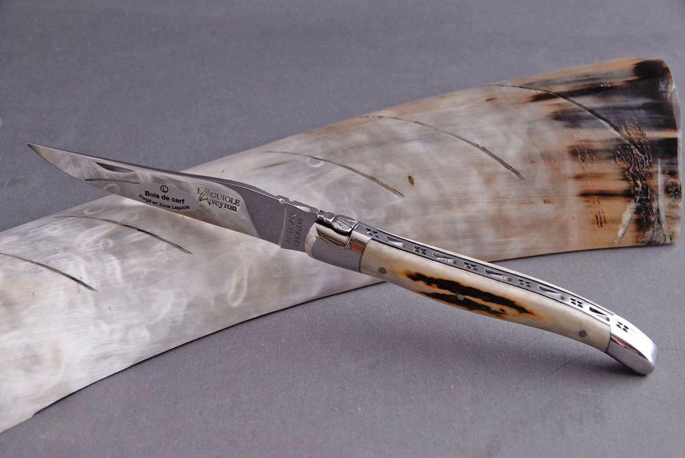 Original laguiole - Taschenmesser Laguiole Aveyron, Brillant, Hirschhorn