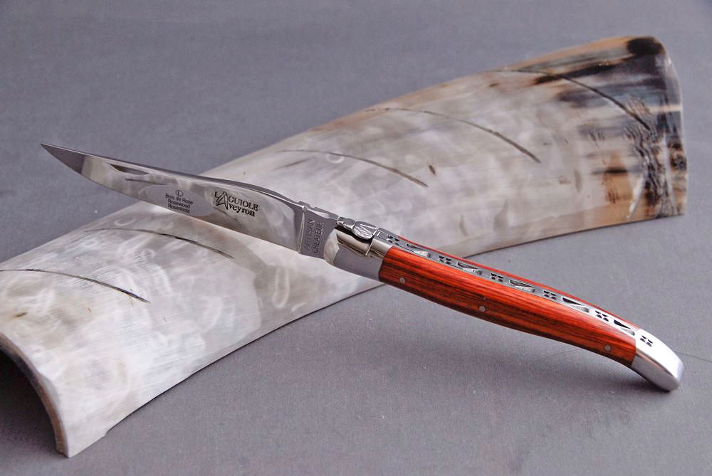 Original laguiole - Taschenmesser Laguiole Aveyron, Brillant, Rosenholz