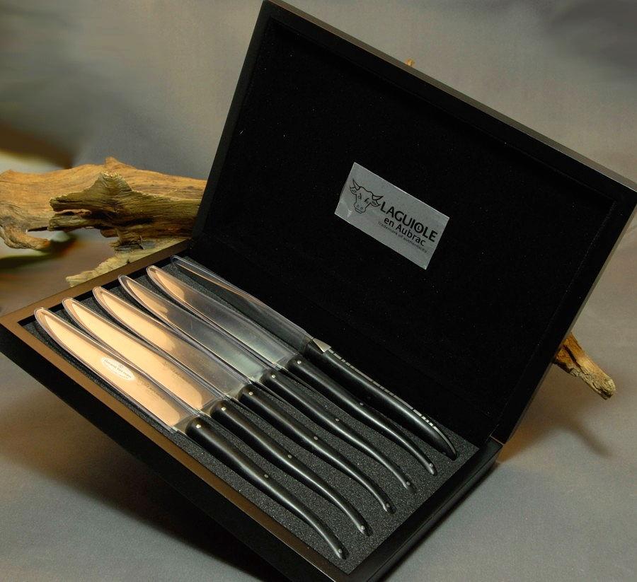 Original laguiole - Laguiole en Aubrac 6-teilig, Steakmesser Set Quotidiens Paperstone