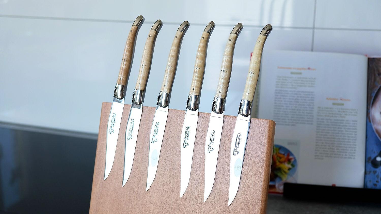 Laguiole en Aubrac 6-tlg. Steakmesser Set, brillant, Ahorn