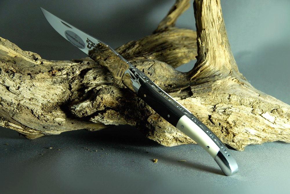 Original laguiole - Taschenmesser Laguiole en Aubrac, Brillant, Carbon/Mammut-Elfenbein