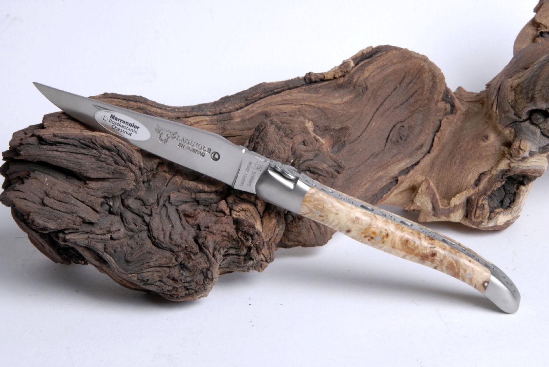 Original laguiole - Taschenmesser Laguiole en Aubrac, Brosse, Rosskastanie, guilochierte Biene
