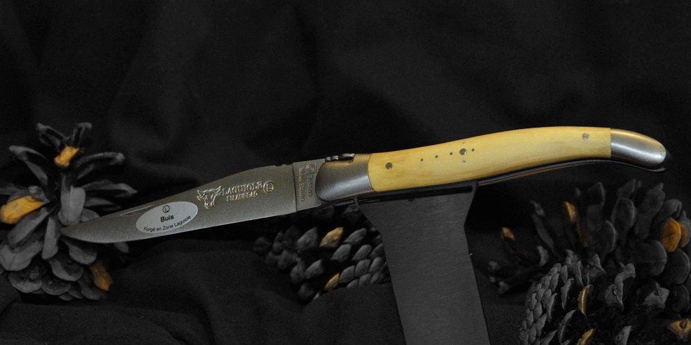 Original laguiole - Taschenmesser Laguiole en Aubrac, Brosse, Buchsbaum, guillochierte Biene