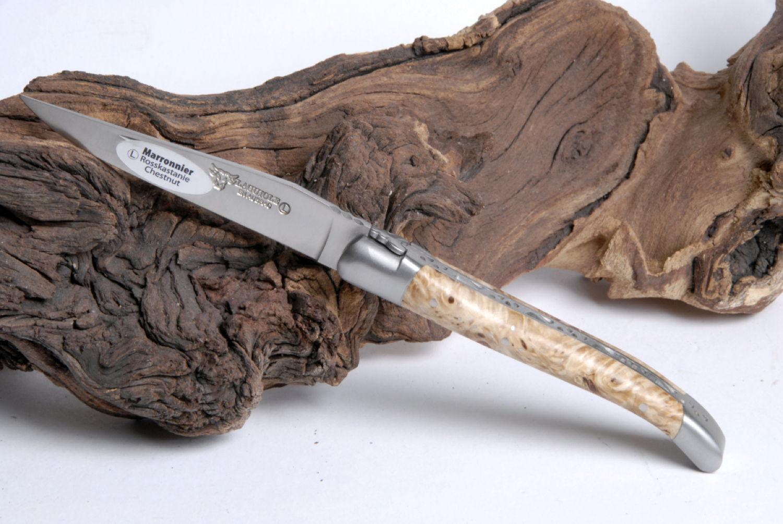Original laguiole - Taschenmesser Laguiole en Aubrac, Laguiollinos, Rosskastanie, 10cm