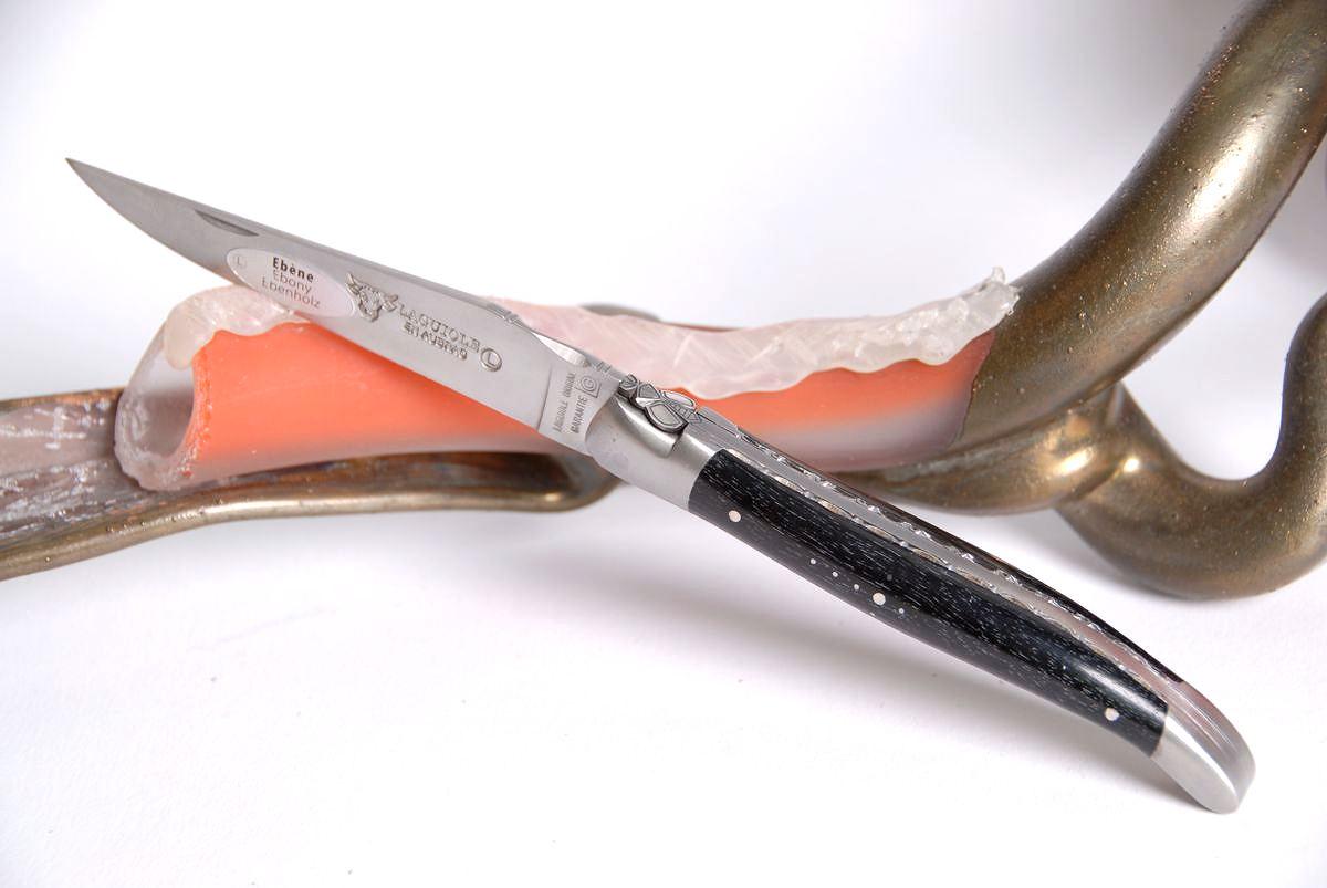 Original laguiole - Taschenmesser Laguiole en Aubrac, Sonderedition, die Wespe guillochierte Platine Ebenholz