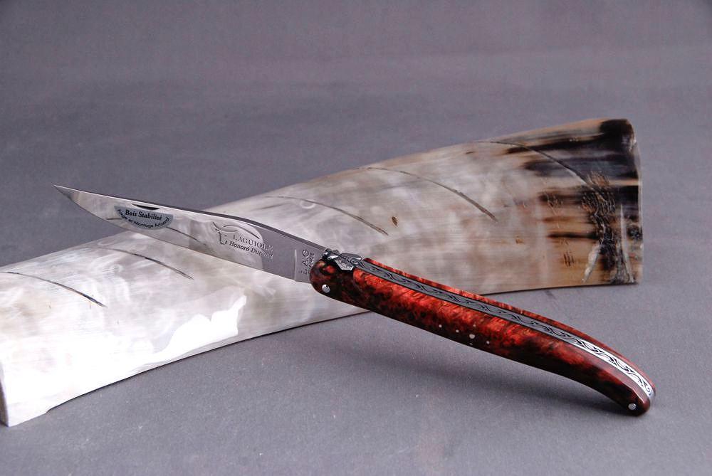 Original laguiole - Taschenmesser Laguiole Honore Durand, 14C28, Ahorn-Wurzelholz, 13 cm, Einzelanfertigung