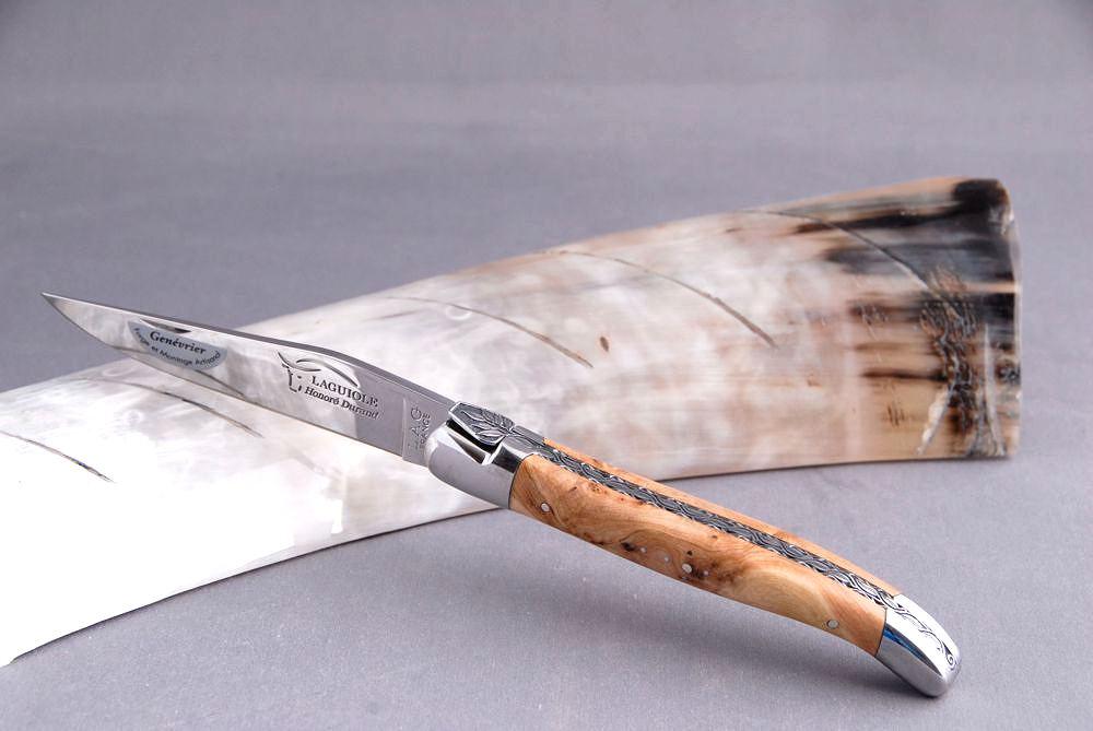 Original laguiole - Taschenmesser Laguiole Honore Durand, 14C28, Wacholder, Einzelanfertigung