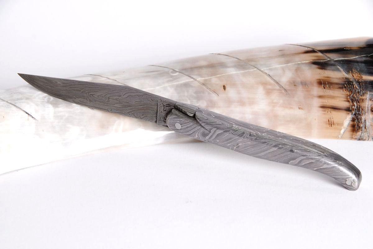 Original laguiole - Taschenmesser Laguiole Honore Durand, Damast spécial, Einzelanfertigung