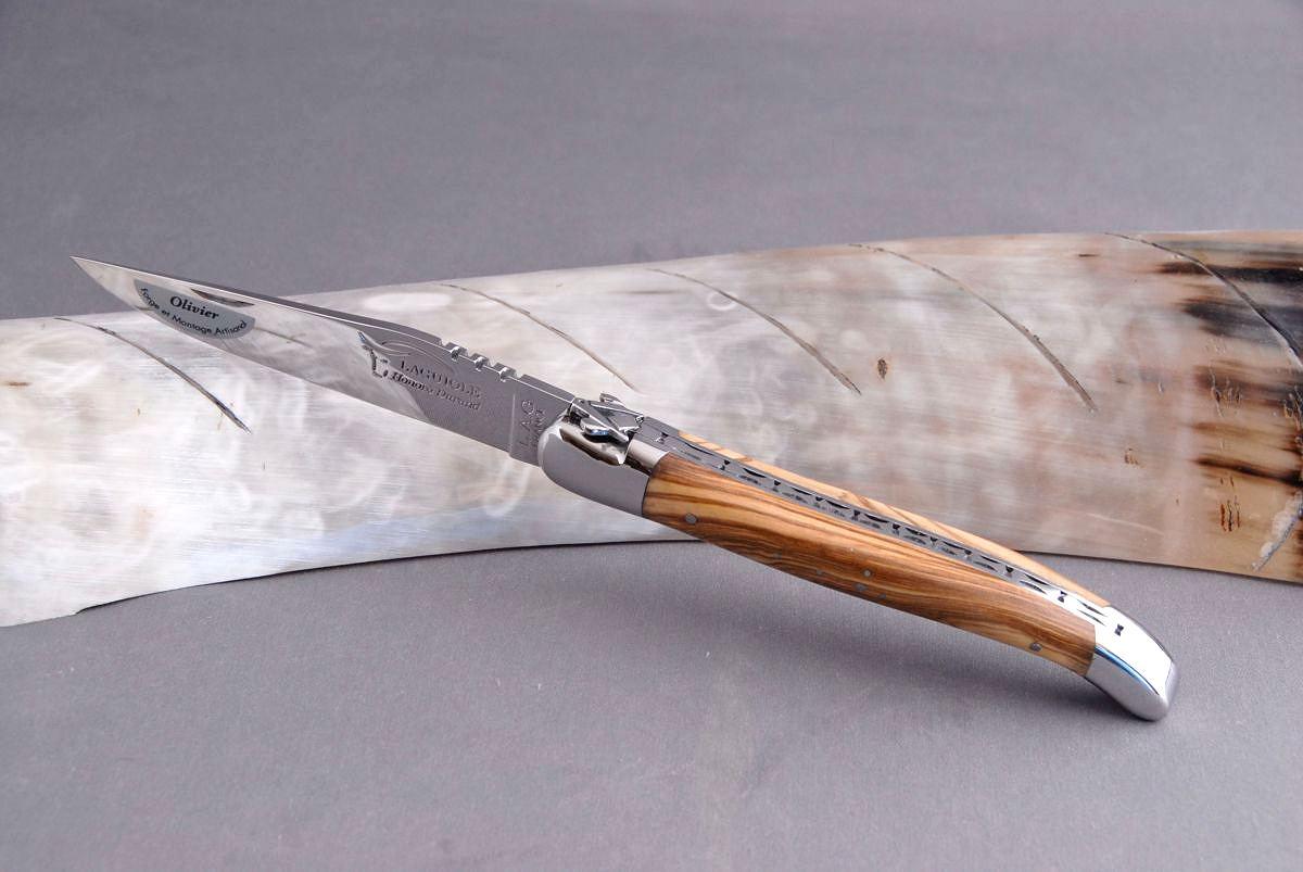 Original laguiole - Taschenmesser Laguiole Honore Durand, Freimaurer-Biene 14C28N, Olivenholz, brosse