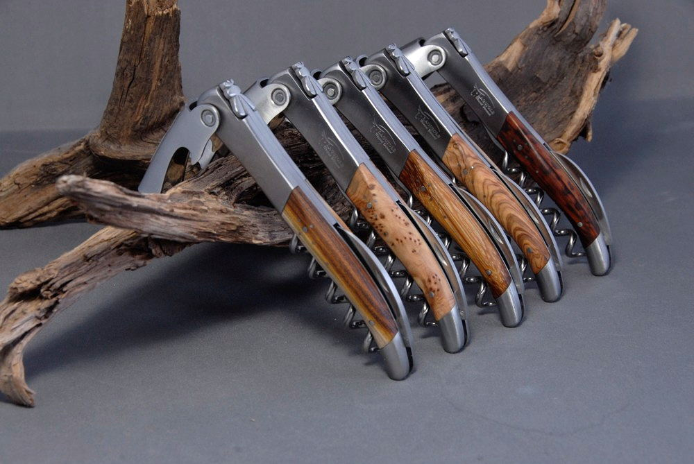 Original laguiole - Taschenmesser Laguiole Honore Durand Sommelier Marmorholz, geschmiedete Fliege