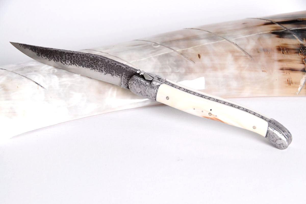 Original laguiole - Taschenmesser Laguiole Honore Durand, Warzenschwein, brut der forge, Einzelanfertigung