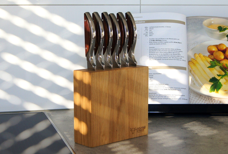 Original laguiole - Messerblock für 6 Küchenmesser von Laguiole en Aubrac