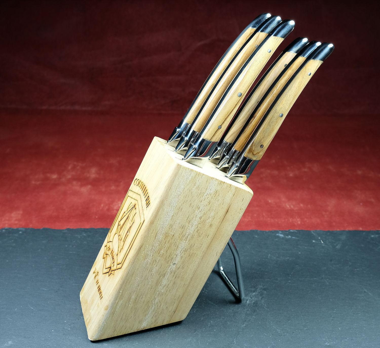 Original laguiole - Messerständer für 6 Steak- oder Küchenmesser (ohne Messer) von Le Fidele