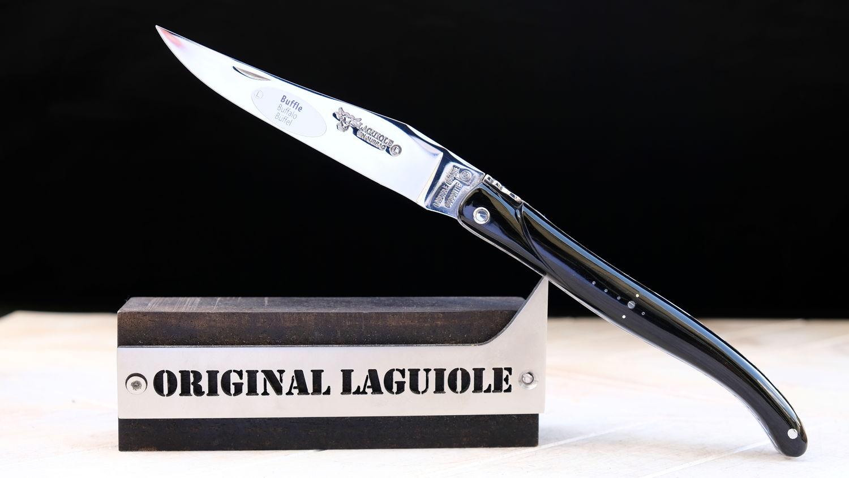 Original laguiole - Taschenmesser Laguiole en Aubrac, Double Platines, Plein Spirale Büffelhorn