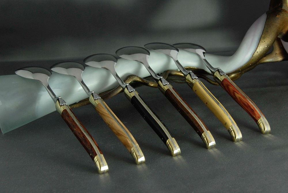 Laguiole Inox Steak Knives Laguiole Quot le Fidele Quot 6 Piece Set of Steak Knives Juniper Wood