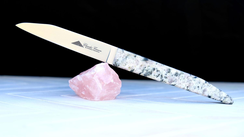 Original laguiole - Taschenmesser Charles Canon, Granit Mont Blanc, brosse