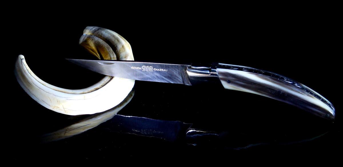 Original laguiole - Taschenmesser Goyon-Chazeau Styl´ver Horn, 12 cm