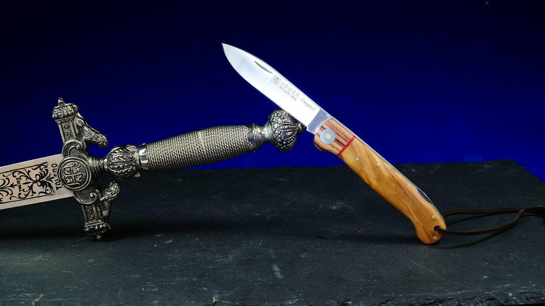 Original laguiole - Taschenmesser Joker Cabguro I, 8,5 cm, Olivenholz/Palisander, Backlock-Arretierung