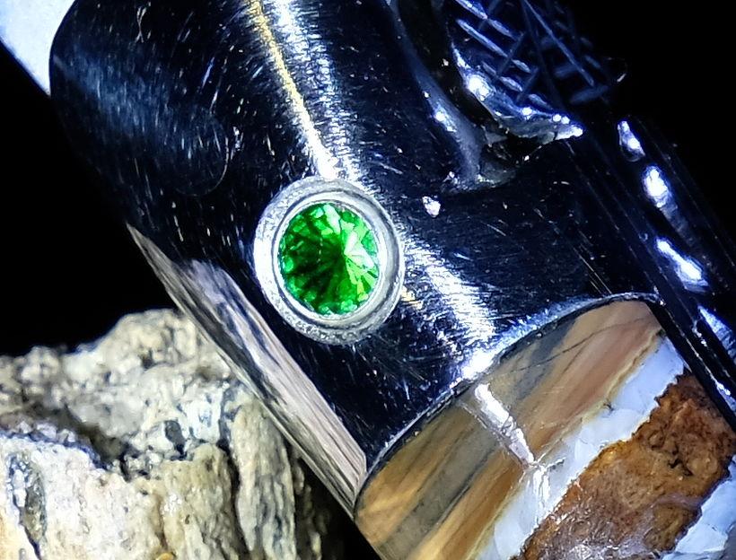 Original laguiole - Taschenmesser Laguiole en Aubrac, Double Platines, Brillant, Mammutbackenzahn, Edition Royale Dark Green