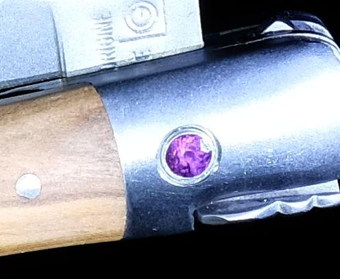 Original laguiole - Taschenmesser Laguiole en Aubrac, Double Platines, Brosse, Olivenholz, Edition Royale Rose