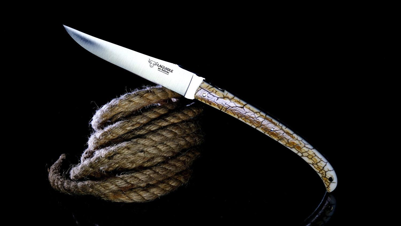 Taschenmesser Laguiole en Aubrac, Gordon Crust, von Pierre Martin, brosse, Plein, Mammutstosszahn