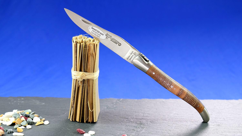 Original laguiole - Taschenmesser Laguiole en Aubrac, guillochierte Biene, stabilistertes Platanenholz, brosse