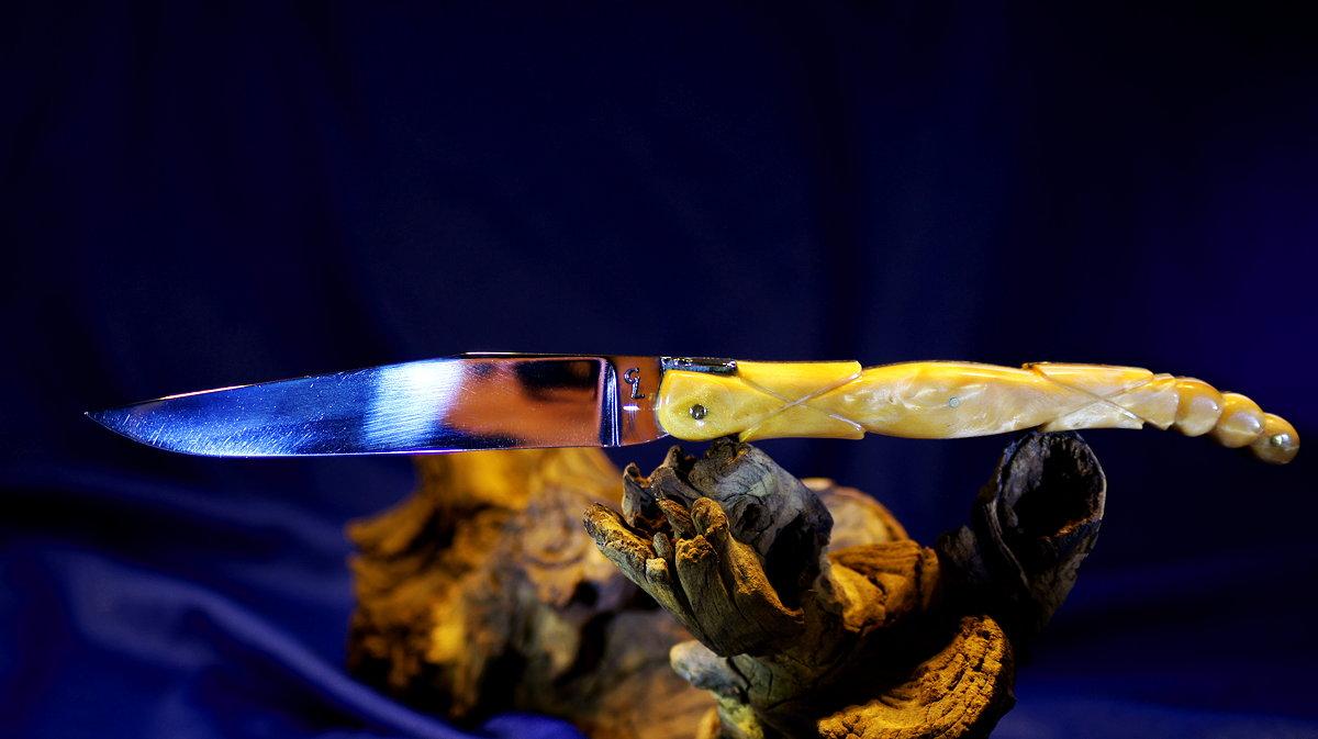 Original laguiole - Taschenmesser Laguiole Honore Durand CL, 14 cm, Amourette, Griff mit Skulptur Skorpionschwanz