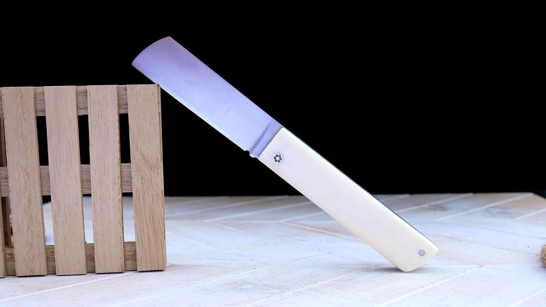 Original laguiole - Taschenmesser TAVIL von Thomas Fleury, Knochengriff, brillant