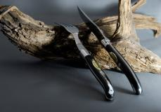 Original laguiole - Claude Dozorme Laguiole 12-teilig. Steakmesser Set mit Gabeln, Horn Edelstahlbacken