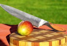 Fleischmesser Haute Cuisine bei Claude Dozorme, exotisches Holz, 26 cm