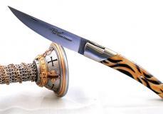 GOYON-CHAZEAU, Taschenmesser Thiers Pirou,Jungle-Design mit Kunstharz