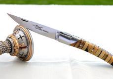 GOYON-CHAZEAU, Taschenmesser Thiers Pirou, stabilisierter Buchsbaum