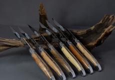Original laguiole - Laguiole en Aubrac 6-teilig, Steakmesser Set Brillant Bois de France