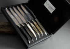 Original laguiole - Laguiole en Aubrac 6-teilig, Steakmesser Set Brillant Horn DIVERS
