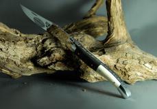 Original laguiole - Laguiole en Aubrac, Brillant, Carbon/Mammut-Elfenbein
