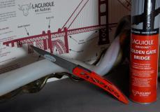 Original laguiole - Laguiole en Aubrac, Sonderedition, San Francisco, Golden Gate Bridge rot