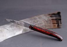 Original laguiole - Laguiole Honore Durand, 14C28, Ahorn-Wurzelholz, 13 cm, Einzelanfertigung