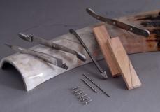 Original laguiole - Taschenmesser Laguiole Honore Durand, Messer zur Selbstmontage in Olivenholz