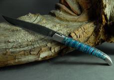Original laguiole - Laguiole Le Fidèle Cisele Damast 500 Lagen Edition Mammut-Backenzahn deep blue
