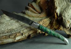 Original laguiole - Laguiole Le Fidèle Cisele Damast 500 Lagen Edition Mammut-Backenzahn green shadow- EINZELSTÜCK