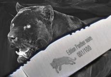 Original laguiole - Laguiole Le Fidèle Wacholderholz Edition Black Panther