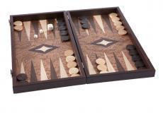 Handgemachtes Backgammon aus Nussbaum (Wurzelholz), 48 x 25 cm