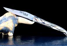 Taschenmesser Laguiole du Barry, Mammutelfenbein, brosse, double platines
