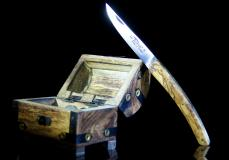 Taschenmesser Thiers Edition Plein, Le Fidele, Olivenholz